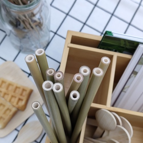 Bamboo Straw 100% Bamboo Product Eco-friendly Environment-friendly  Degradable Product Disposable Straw