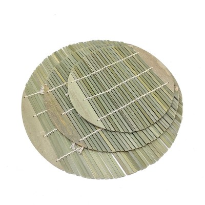 Bamboo Sushi Roll|Bamboo Weave Curtain|Round Green Skin Roll Curtain|Food Placemat|Factory Wholesale