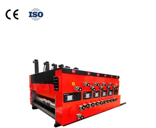 Hengchuangli automatic carton making machine, corrugated pizza carton printing slotting machine, die cutting machine, model 1224 is suitable for carton printing and forming machine