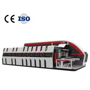 Ruichang pizza box automatic printing machine Corrugated flexographic printing groove punching and cutting equipment China 2021 new type  Automatic pizza box printing machine corrugated ca