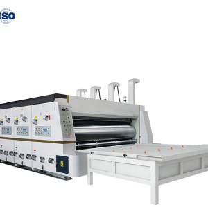 Hua yu semi-automatic flexo printing machine slotting die cutting machine for carton packaging printing