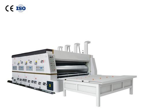 Hua yu semi-automatic flexo printing machine slotting die cutting machine for carton packaging printing bojun automatic pizza box cardboard printing die