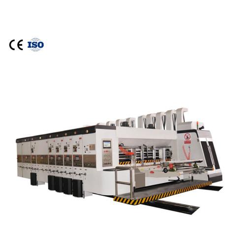 huayu Lead edge feeder colors Flexo printer slotter rotary die cutter machine/corrugated carton box printing slotting die cutting  Semi-automatic corrugated carton folding machine