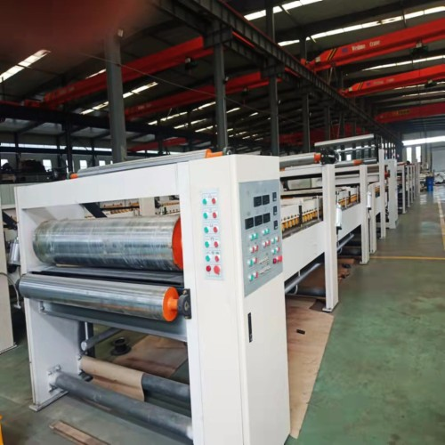 Double sided machine for corrugated board production line