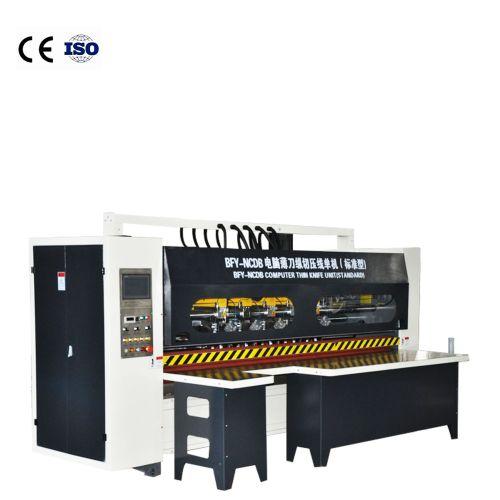 Hua Yu carton machinery electric adjustment corrugated paper box making thin knife slitting machine  automatic paper tube cutting machine China NC blad