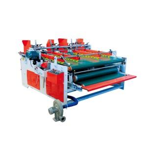 Corrugated Cardboard Box Double Gluing Heads Folder Gluer Machine