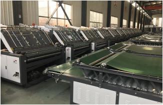 Semi-automatic flute low table servo paper mounting machine corrugated carton machinery flute laminator machin