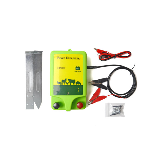 Battery Powered Electric Fence Energizer 0.5 Joule, 110 Volt Energizer, Added Power Reserve, Unbeatable Reliability, Easy Installation