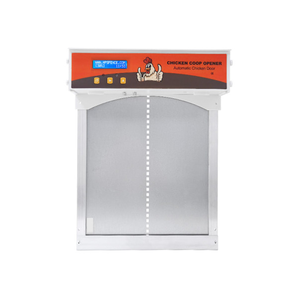 Metal All In One Automatic Chicken Coop Door With LCD Screen, Full Aluminum Doors, Evening And Morning Delayed Opening Timer