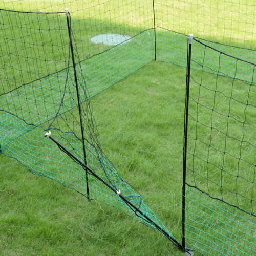12M Portable Plastic Poultry Netting For Chicken Run, PE Heavy Knotted Poultry Netting, Plastic Rabbit Fencing