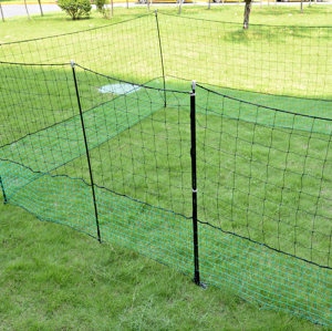 24M Green Plastic Poultry Netting For Farm, Safe Poultry Netting Fence For Chicken, PE Chicken Netting With Mesh