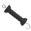 UV Resistance Garden Pasture Electric Fence Gate Handle, Black Insulated Fence Handle with Spring Hook