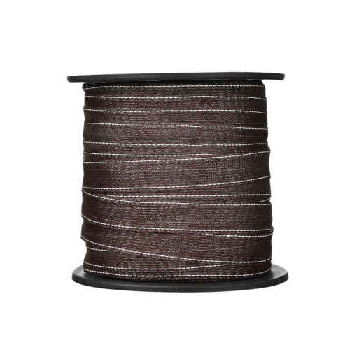Electric Fence Poly Tape 14 Strands of 0.15MM Stainless Steel, Electric Fencing Brown