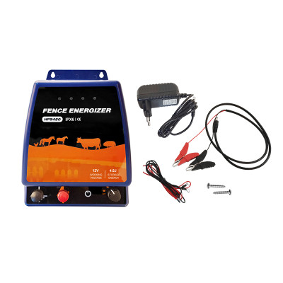 Portable Security AC Electric Fence Energizer 4.8Joules, 110 Volt Energizer, Added Power Reserve,Unbeatable Reliability