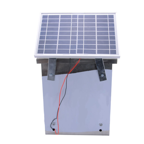 2.0 Stored Joule Energizer, 12 Volt Portable Solar Power Fence Energizer, Solar Panel & Leadsets Included