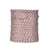 Portable Polywire Electric Fence For Rabbits, 656 Feet 200 Meter Orange Electric Fence Polywire Rope, 6 Stainless Steel Conductors