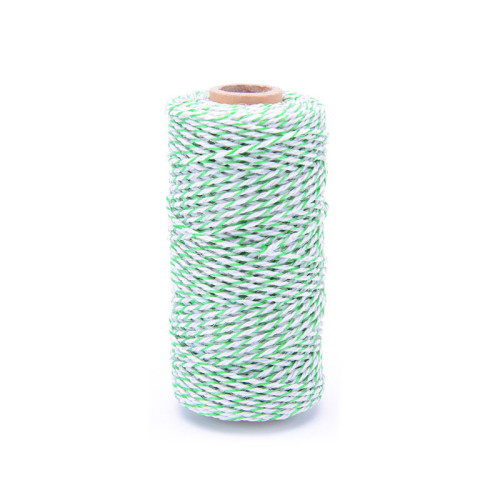 Portable Splicing Polywire Electric Fence, 1312 Feet 400 Meter, 6 Conductor, Green and White Color
