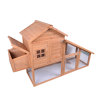 Large Wooden Chicken Coop With Run For Home Backyard, Wooden Pet House Poultry Hutch, Hen House Chicken Coop