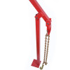 Heavy Duty Power Coated Fence Post Puller with Lifting Chain Puller, T Post Puller for Round Fence Posts T Stakes Sign Post