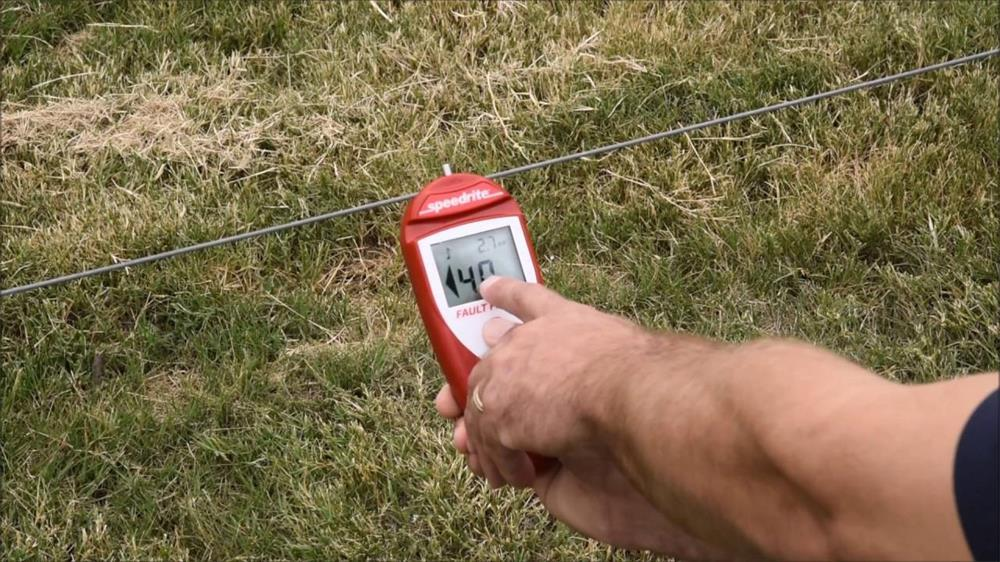 the specific method of testing the electric fence