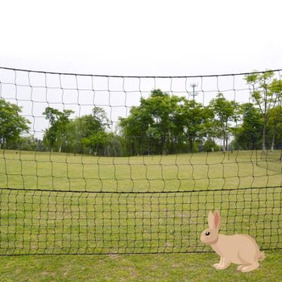 0.66*50M Rabbit Green Electric Poultry Netting Kit For Garden Fence, Rabbit Proof Electric Fencing Netting Kit, Poultry Farm Equipment For Rabbits