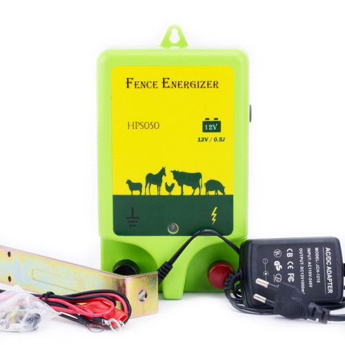 AC-Powered Electric Fence Charger, 0.5 Joule, 110 Volt Energizer, Added Power Reserve, Unbeatable Reliability, Easy Installation