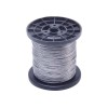 Steel Wire Cable, 7x7 Strand Core 368 lbs Breaking Strength Wire Rope for Outdoor Clothesline String Lights