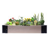 Wood Raised Garden Bed, Outdoor Wooden Raised Garden Bed Planter for Vegetables, Grass, Lawn, Yard - Natural