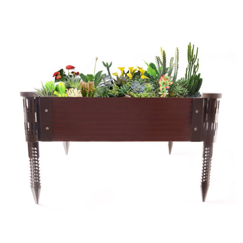 WPC Raised Garden Bed Kit Planter Raised Beds, Outdoor & Indoor Solid Wood Planter Box, Suitable for Vegetables, Flower, Herb