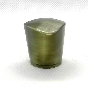 Tapón de perfume perdido zamac acabado pincel de bronce para botellas de vidrio