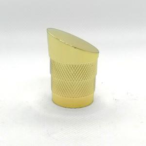 Perfume de mujer con gorro puntiagudo dorado zamac a la venta