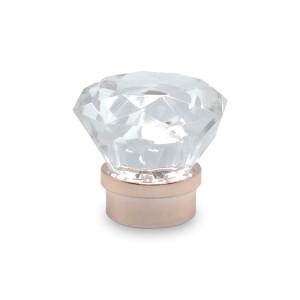 Fabricant de bouchon de bouteille en plastique en forme de diamant clair pour parfum