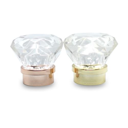 واضح الماس شكل غطاء زجاجة بلاستيكية الصانع للعطور