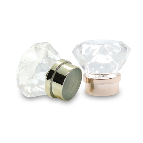 Clear diamond shape plastic bottle cap manufacturer for perfume