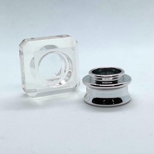 China wholesale transparent plastic perfume caps for glass bottles