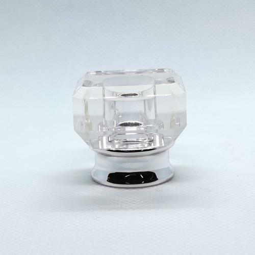 Tapas de perfume de plástico transparente al por mayor de China para botellas de vidrio