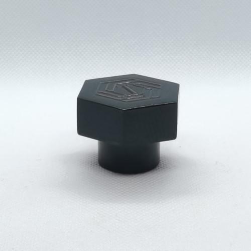 Fabricantes de tapas de botellas de perfume de plástico surlyn negro personalizado | Botellas GP