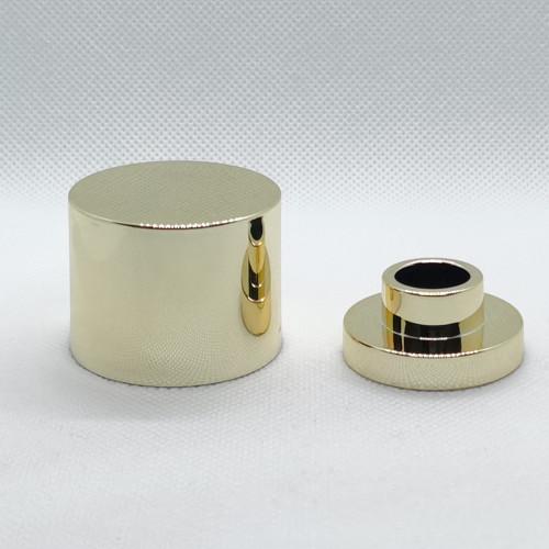 غطاء زجاجة عطر مطلية بالذهب OEM ODM ABS   زجاجات GP