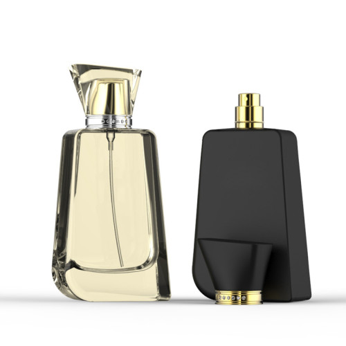 New desing 100ml glass perfume bottle with acrylic caps | GP Bottles