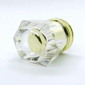 Parfum bottle cap transparent acrylic with gold PP insert customized | GP Bottles
