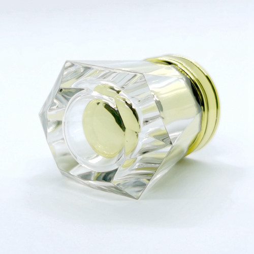 Parfum bottle cap transparent acrylic with gold PP insert customized | GP Bottles