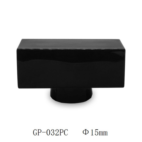 Black inject  with steel weighty ABS plastic perfume cap manufacturer wholesale   GP Bottles