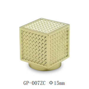 Gold plated square perfume bottle caps wholesale GP Bottles