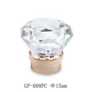 Clear diamond shape plastic bottle cap manufacturer for perfume