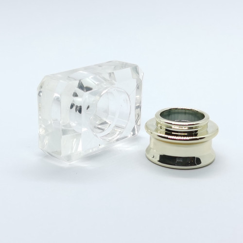 China clear surlyn perfume cap with PP collar wholesale