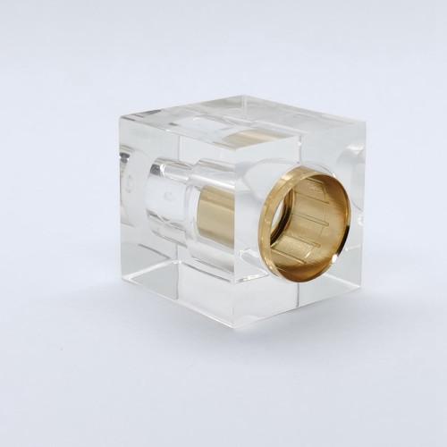 Square transparent surlyn perfume cap manufacturer - GP Bottles