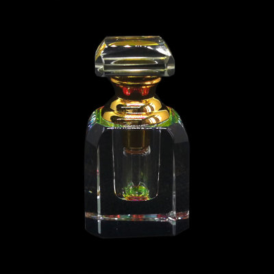 1ml Art deco mini hand cut crystal perfume bottle  | GP Bottles