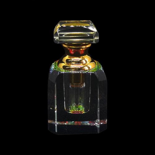 1ml Art deco mini hand cut crystal perfume bottle  | GP Bottles