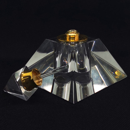5ml pyramid crystal glass perfume bottles with dropper on sale | GP Bottles