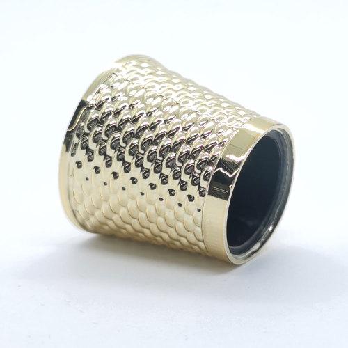 Zinc alloy gold plating metal perfume caps wholesale | GP Bottles